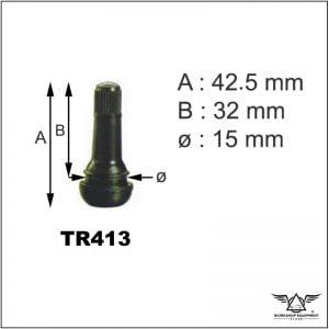 Tubeless Tyre Valve TR413
