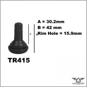 Tubeless Tyre Valve TR415