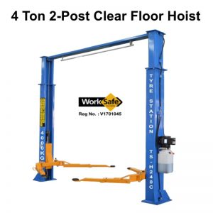 2-Post 4 Ton Clear Floor Hoist Model: TS-H240C