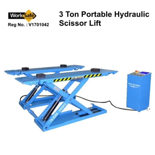 3 Ton Portable Hydraulic Scissor Lift: TS-S300
