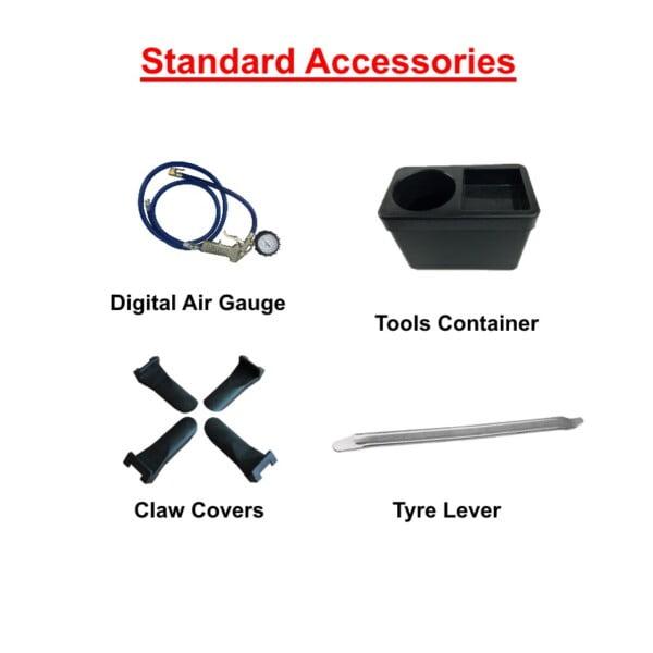 Digital Air Gauge and Tyre lever