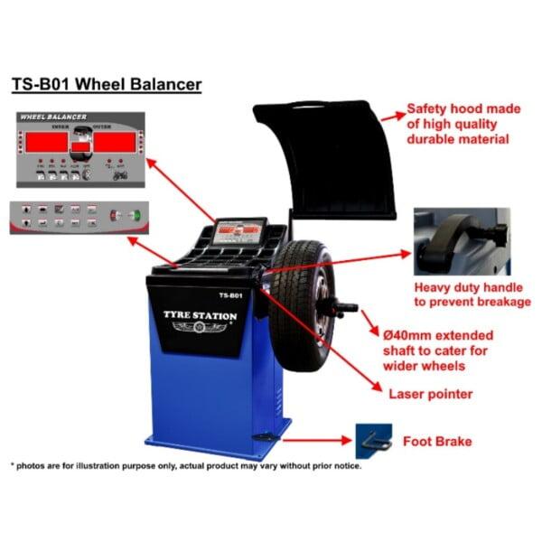 TS-B01 Wheel Balancer